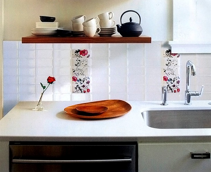 Плитка для кухни на фартук белая