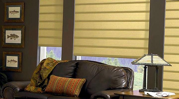 Римские шторы в современной квартире