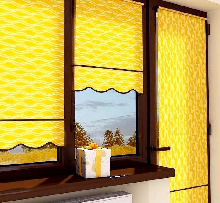 Рулонные шторы на пластиковые окна2