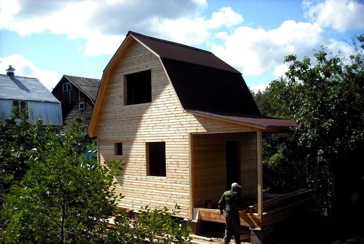 Строительство каркасной бани с мансардой