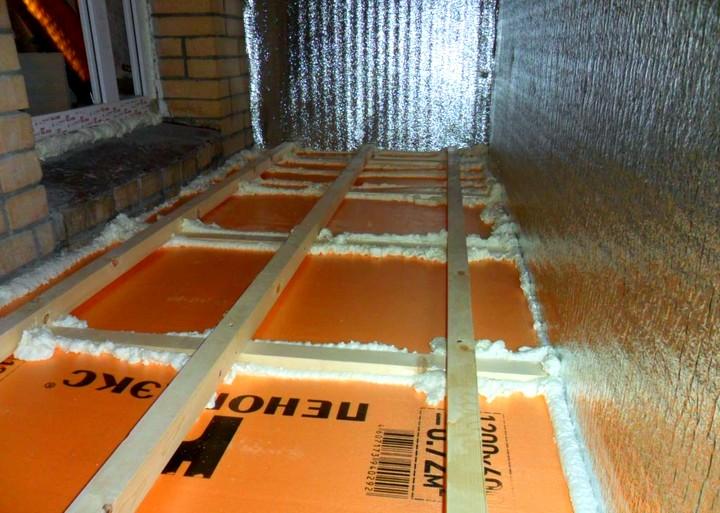 Технология-утепления-пола-балкона-пеноплексом