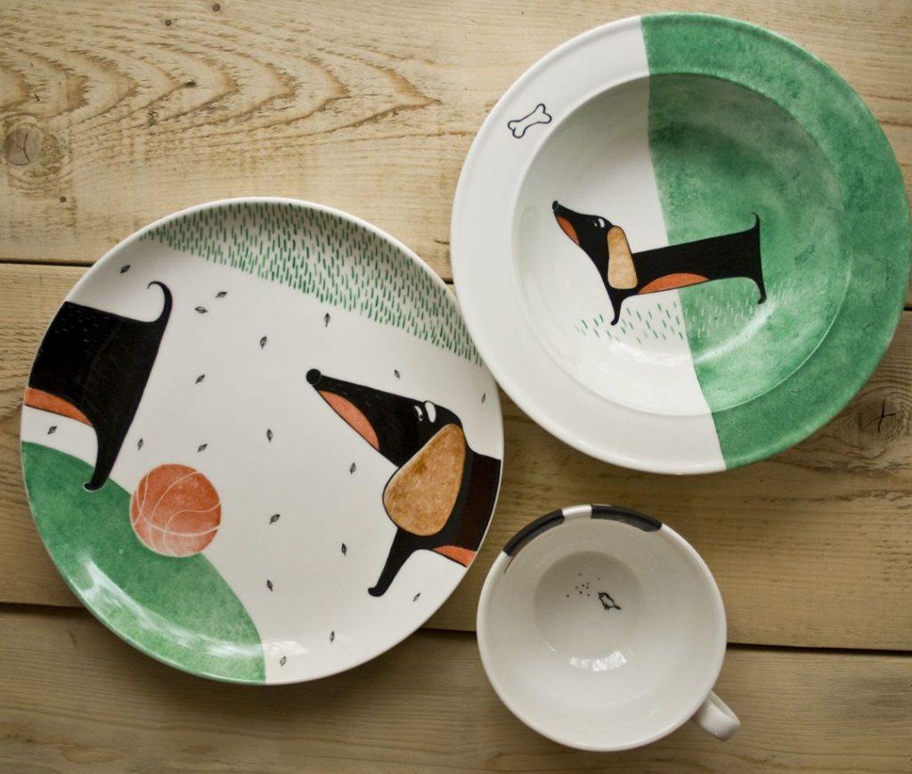 Роспись тарелок к Году Собаки