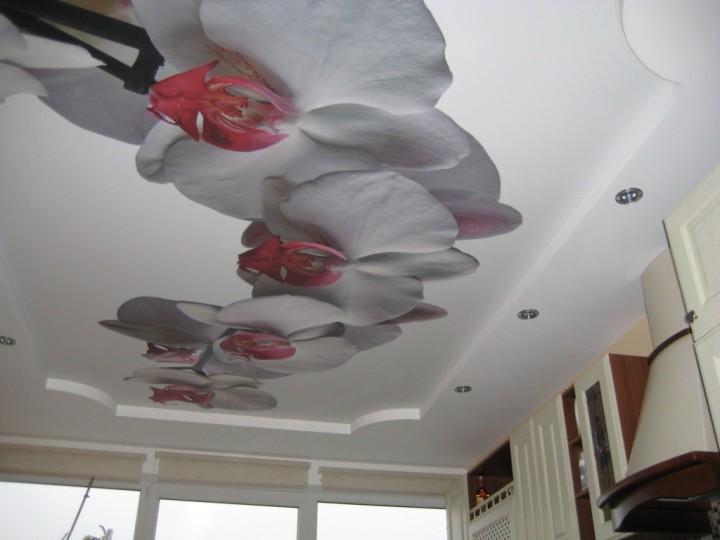 Натяжные потолки с рисунками