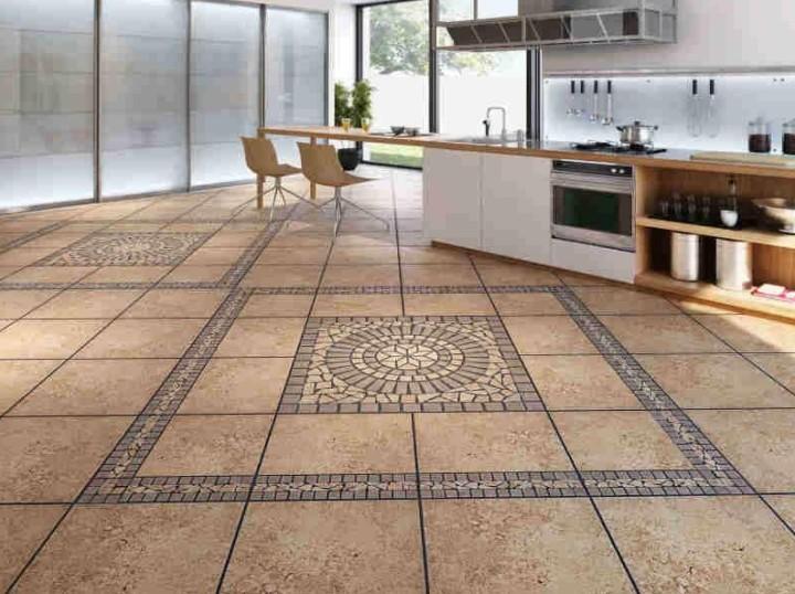 Модульная укладка плитки на кухне