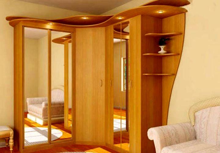 Раздвидные и распашные двери угловых шкафов купе