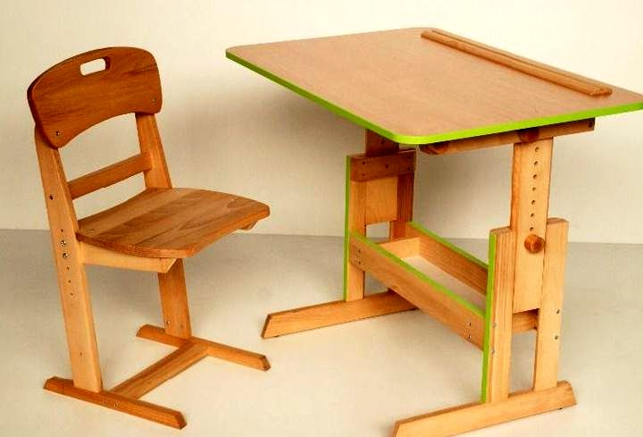 Деревянная раздвижная мебель для ребенка