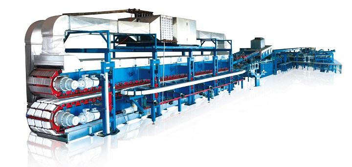 Автоматическая линия по производству сэндвич панелей с теплоизолятором минеральной ватой