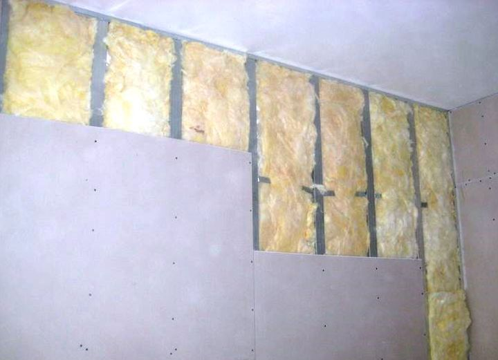 использование минеральной ваты внутри помещения: