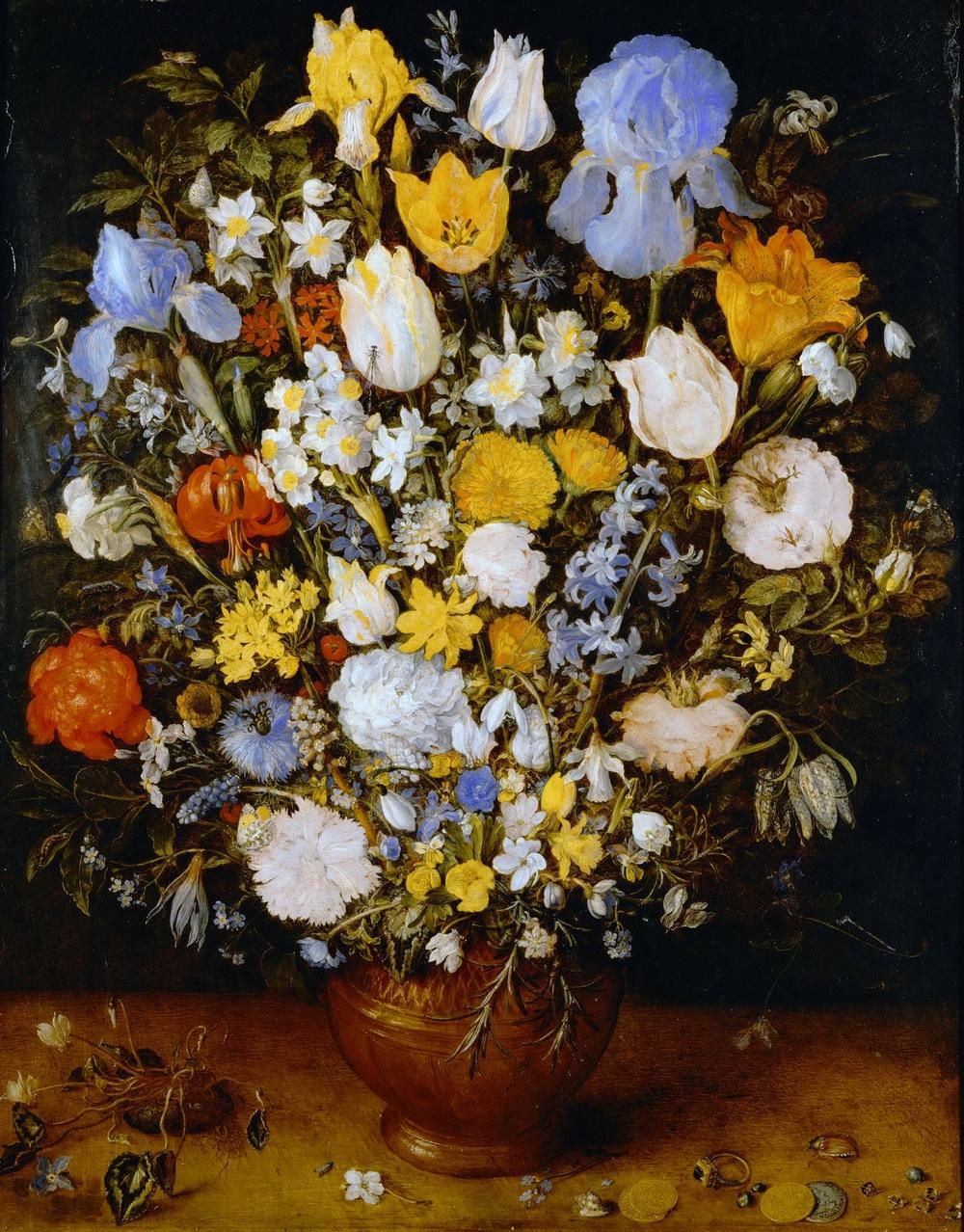 Ян Брейгель Старший (Бархатный) Букет ок.1607, Вена, Музей истории искусств