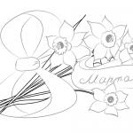 Фото 61: Рисование цветов к 8 марта