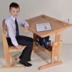 Фото 27: Деревянный школьный стул