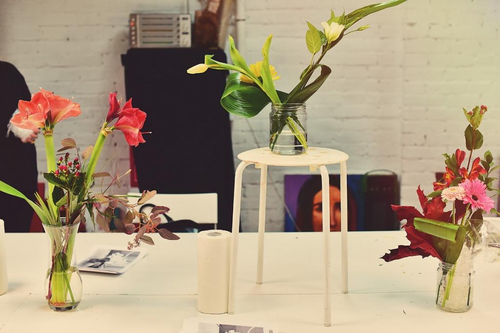 Экспозиция для натюрморта из цветов