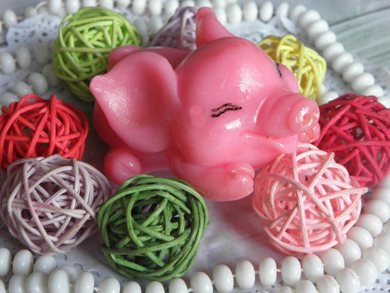 Мыло в виде свинки