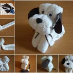 Фото 31: Собачка из полотенец своими руками
