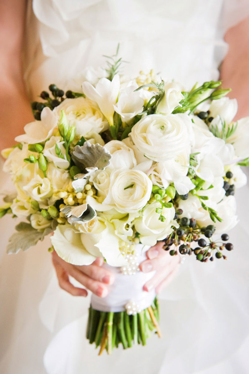 Фото свадебного букета бидермейер