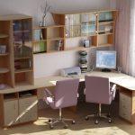 Фото 50: Угловой письменный стол на два места