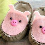 Фото 97: Украшение тапочек под свинок