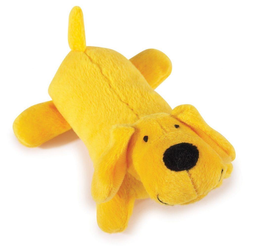 Желтая плюшевая собака