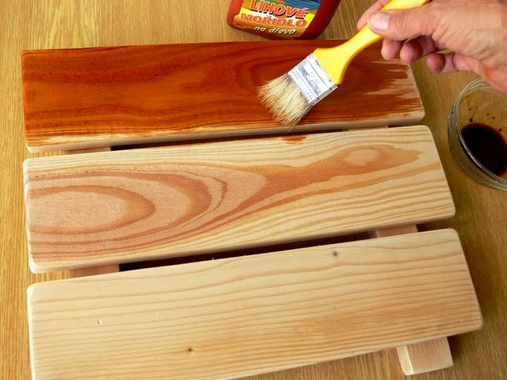 Как морить древесину