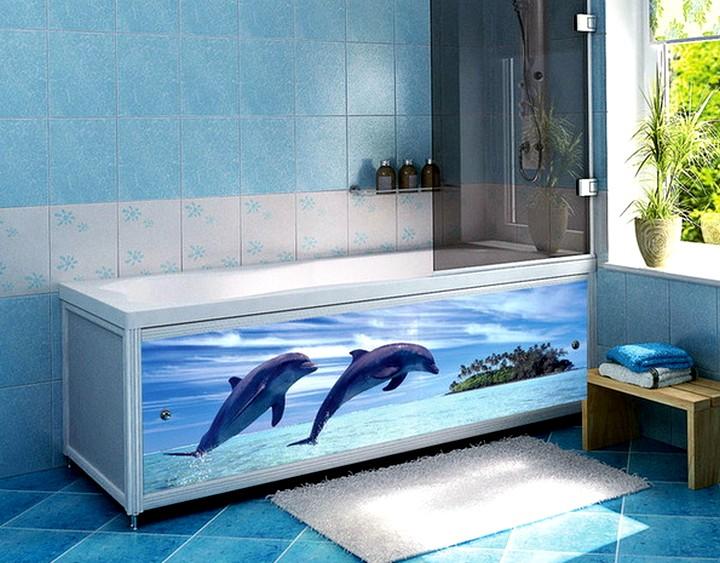 Подвижный экран под ванну