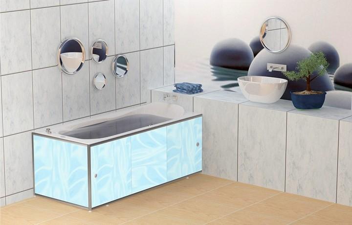 Практичное решение экран под ванну