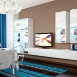 гостиная-столовая в светлых тонах