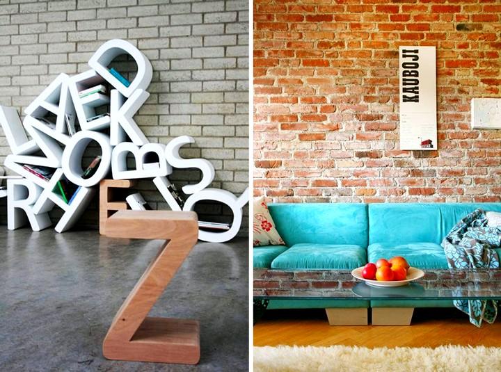 75 оригинальных идей использования декоративных букв в интерьере