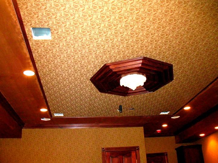 натяжные потолки для дома на тканевой основе