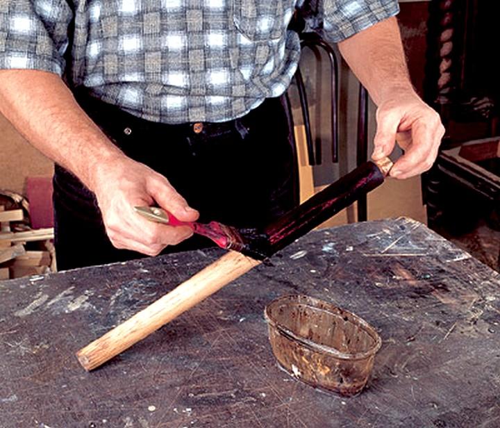 применение морилки для дерева