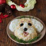 Фото 76: Новогодний салат собачка