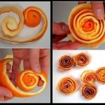 Фото 68: Роза из кожуры апельсина