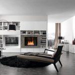 Фото 61: Бетонный пол в интерьере современной гостиной