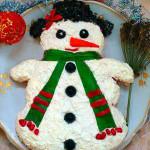Фото 24: Салат—снеговик