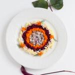 Фото 9: Украшение салата под шубой круглое