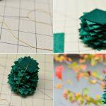 Фото 18: Изготовление елочки из квадратиков фетра