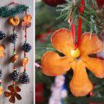 Фото 90: Игрушки на елку из апельсиновых корочек