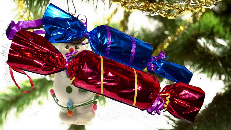 Как сделать новогоднюю игрушку конфету своими руками