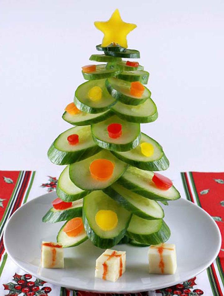 Забавное украшение салата