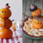 Фото 70: снеговики из мандаринов