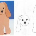 Фото 21: Шаблон открытки в виде собачки