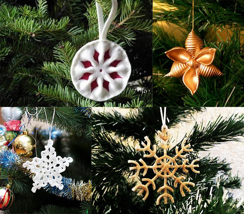 Игрушки снежинки на елку