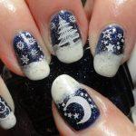 Фото 45: Снежные рисунки на ногтях