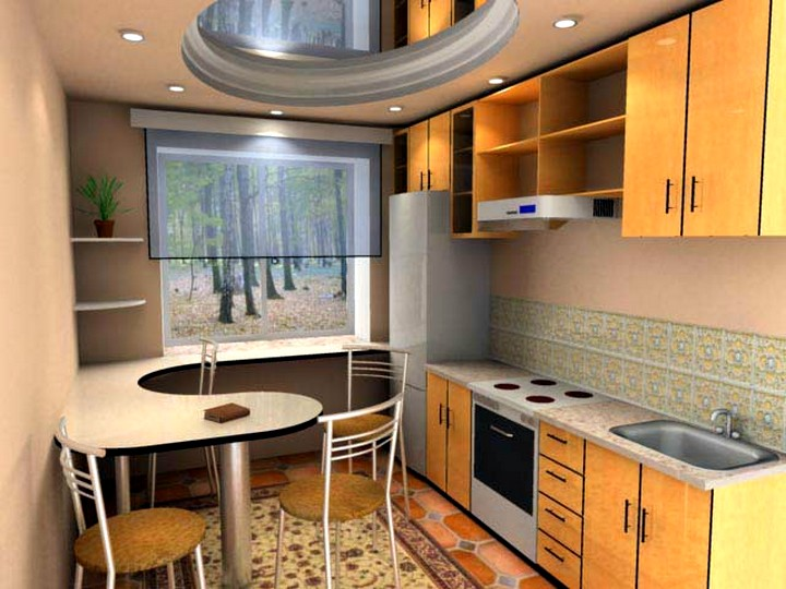 интерьер кухни хрущевки фото