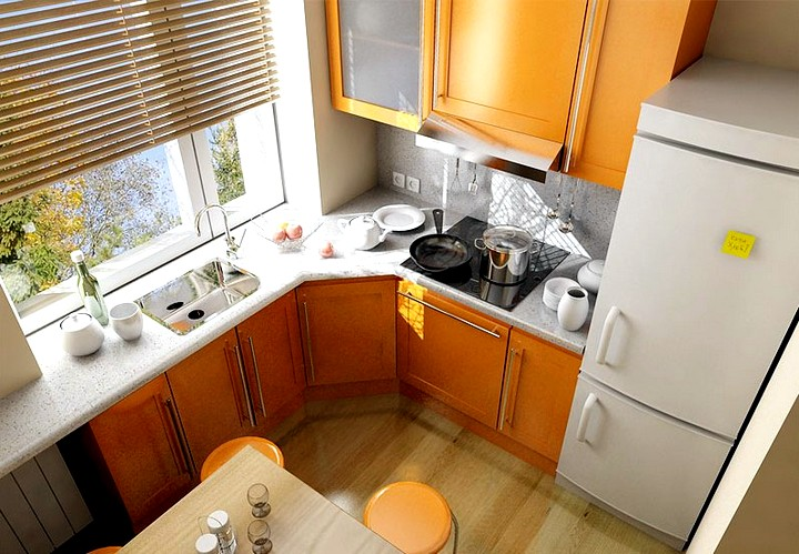 Дизайн кухни в хрущевке мебель
