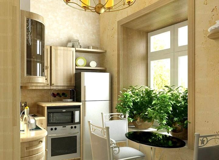 Интересный дизайн кухни в хрущевке 2