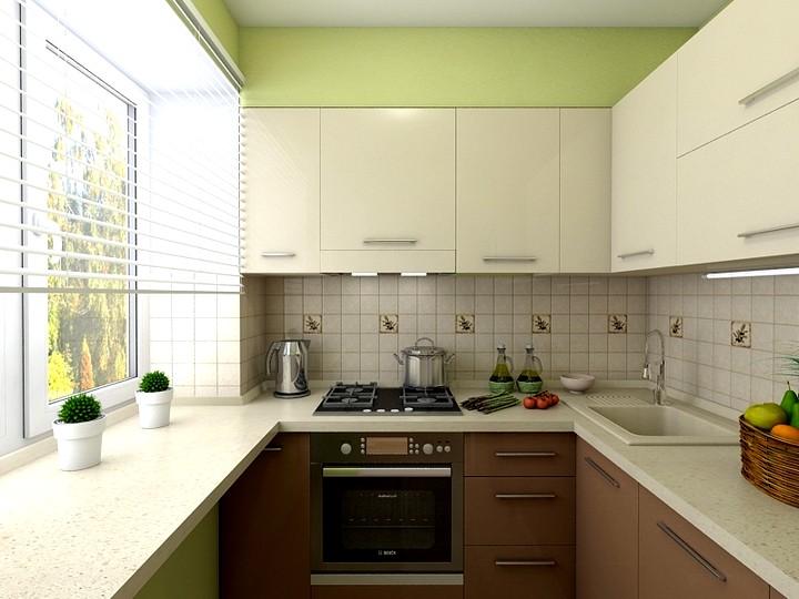 Интересный дизайн кухни в хрущевке
