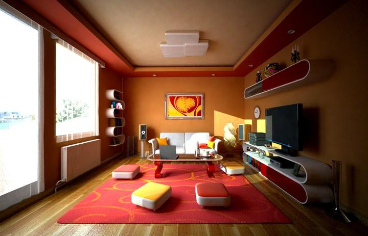 Терракотовый цвет в интерьере детской комнаты