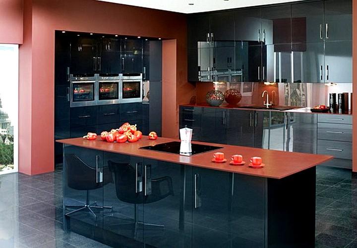 терракотовый цвет при оформлении кухни