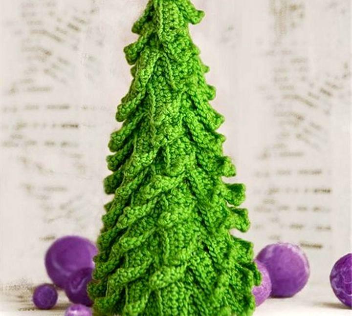 Вязанная новогодняя елка своими руками