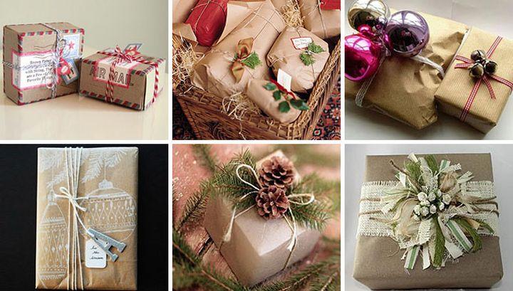 Разнообразие новогоднего декора для упаковки подарков